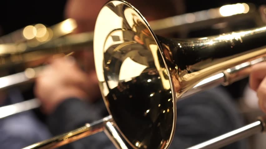 Jazzman playing trumpet close-up | Shutterstock HD Video #14589529