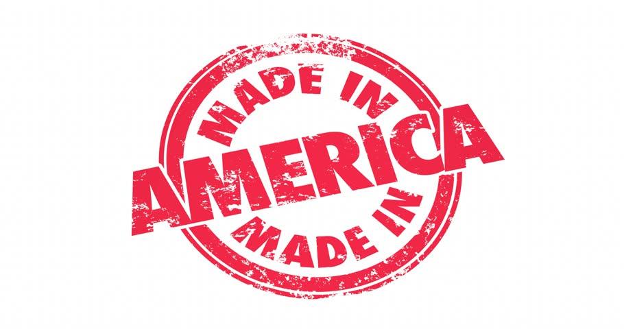 Made in America USA United States Round Stamp Manufacturing Pride 4K | Shutterstock HD Video #14640481