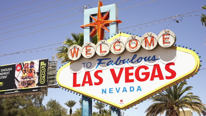 Famous Welcome to Las Vegas sign - LAS VEGAS, NEVADA/USA APRIL 20, 2015 | Shutterstock HD Video #14640580