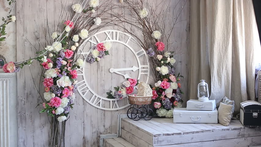 Flowers For Wedding Ceremony Wedding Arch Background Table For The Wedding Ceremony Stock