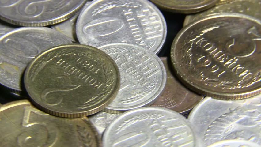 Soviet money. Coins. | Shutterstock HD Video #14665618