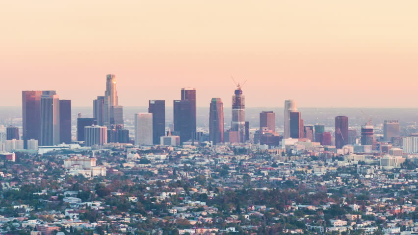 Time-lapse for view over downtown Los Angeles from Griffith Observatory at sunset | Shutterstock HD Video #14674198