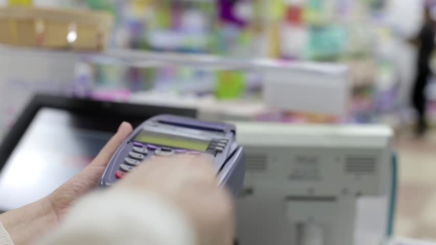 Payment by Credit Card Through the Terminal | Shutterstock HD Video #14682721