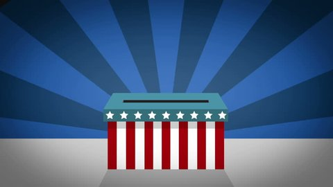 US Presidential Election - voting in the ballot box motion graphic animation