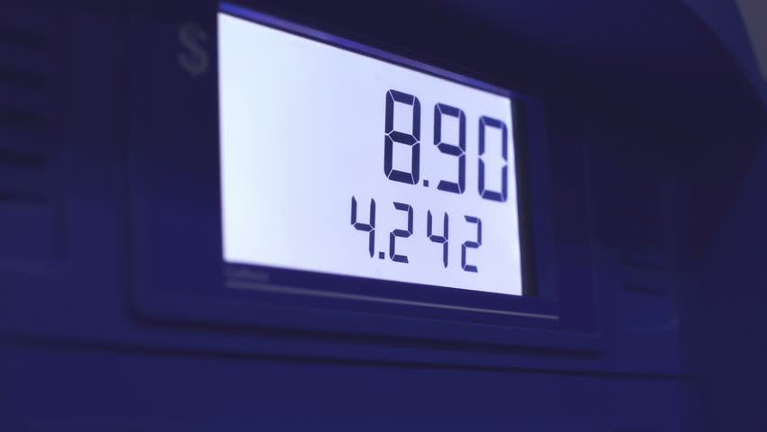 Detail of gas station pump with display running | Shutterstock HD Video #14714818
