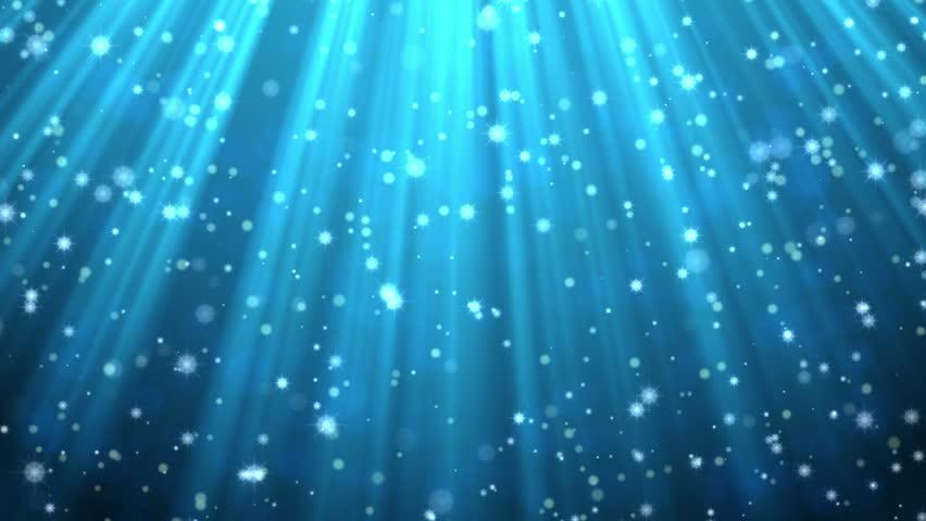CG Shades Of Blue Glitter Background Animation Stock