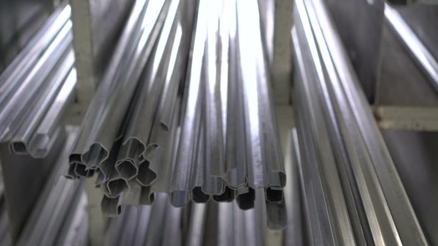A large number of window metal profile. 4K | Shutterstock HD Video #14732878