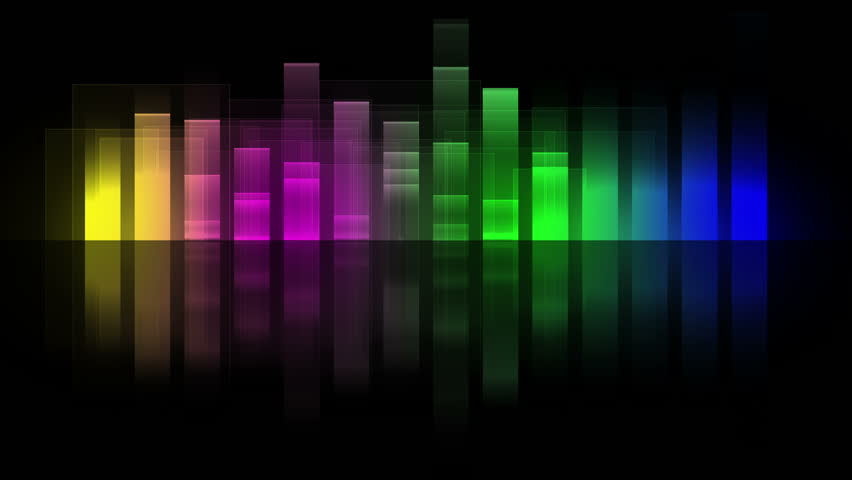Music Equalizer Wallpaper: Music Equalizer Graphics Rainbow. Computer Generated