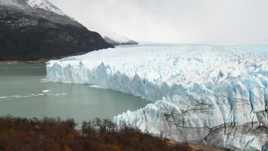 A wide shot of a glacier. | Shutterstock HD Video #1475938