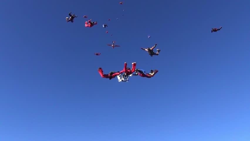 Big formation skydiving.
