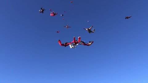 Big formation skydiving.