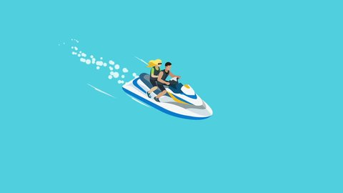Man And Woman Floating On Stock Footage Video 100 Royalty Free 14783188 Shutterstock