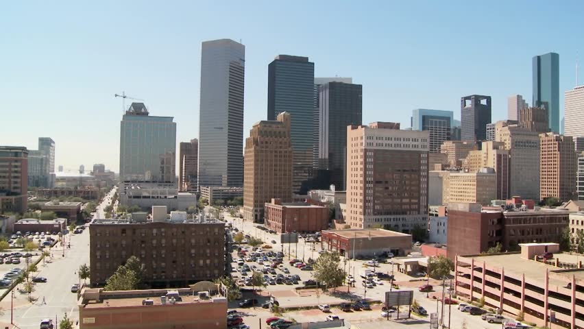 Slow pan across the Houston skyline on a bright sunny day. | Shutterstock HD Video #1478695
