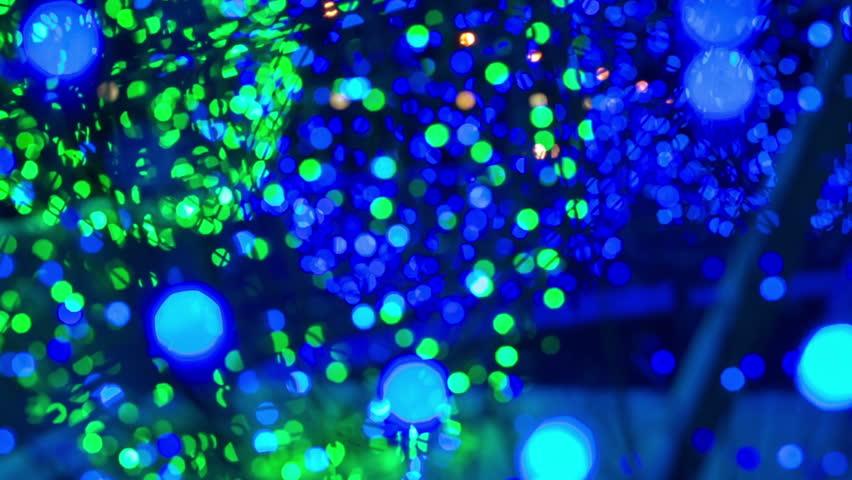Christmas garland light bulbs. Background. Bokeh | Shutterstock HD Video #14788018