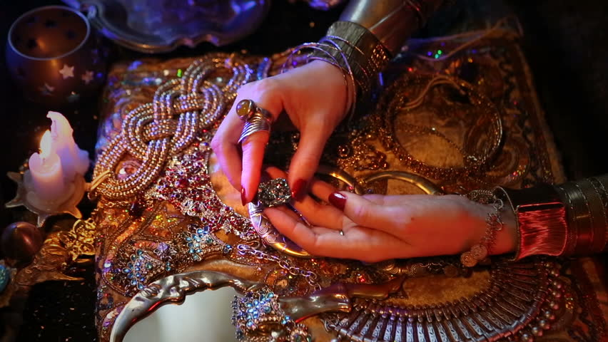 5442a65975a3 Golden Oriental Jewelry and Accessories  Female Hands with beautiful  National Indian Jewellery