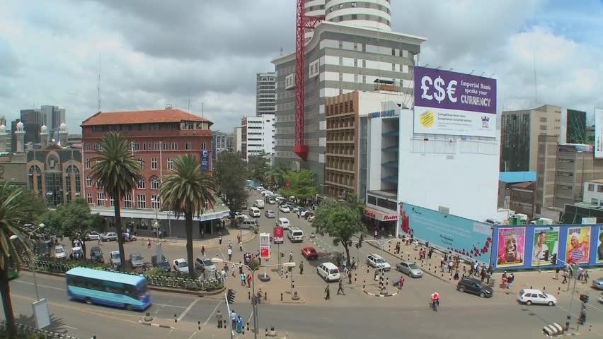 Nairobi, the main street Kenyatta Avenue. - Picture of Nairobi ...