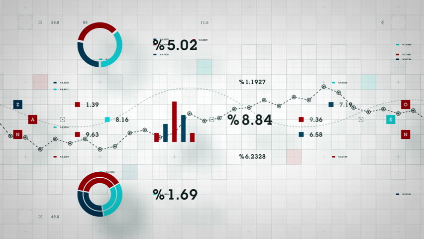 Graphs and other business data developing over time. Available in multiple color options. All clips loop seamlessly.