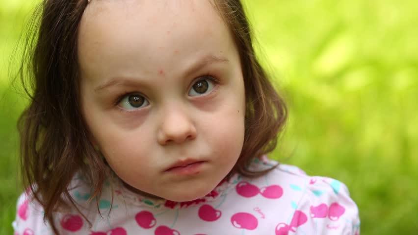 Little girl makeup video