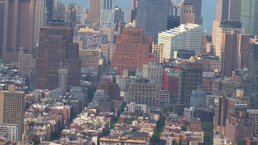New York - Circa October 2010: Aerial view of the New York City skyline. | Shutterstock HD Video #1487737