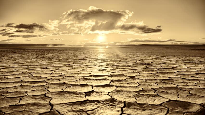 Tracking Sunrise Time Lapse across apocalyptic desert playa wasteland