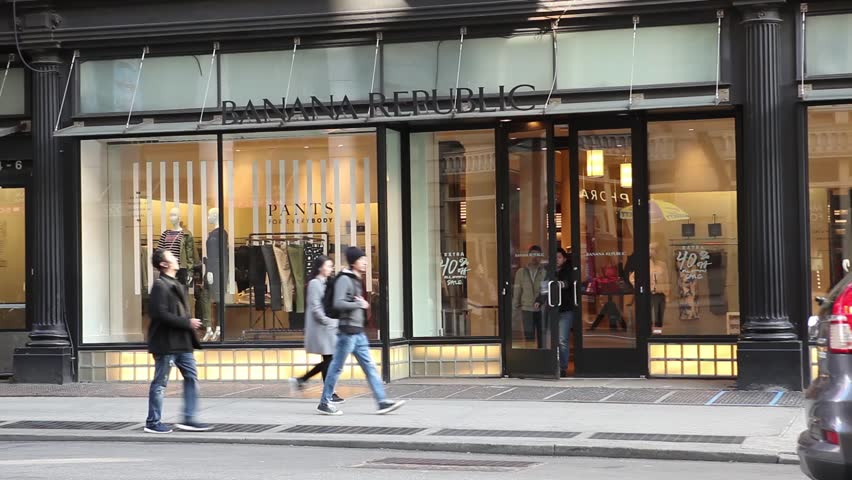 New York Usa March 1 2017 Banana Republic On