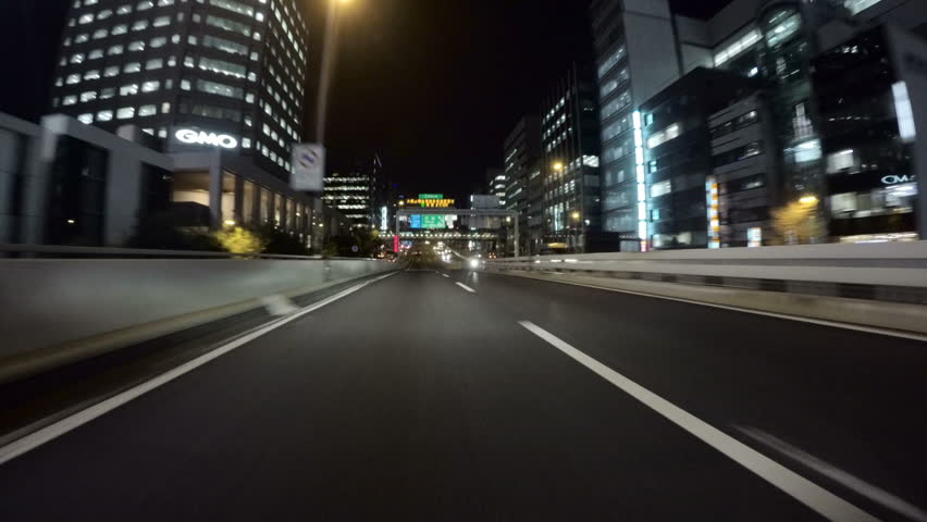 March 3, 2016. Ohashi, Japan - Driver POV heading into the newly built Ohashi junction to the 2nd ring route on the metropolitan highway. | Shutterstock HD Video #14966848