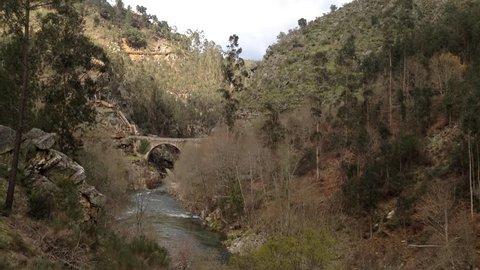 Alvarenga bridge near the Paiva gangways are located on the left bank of the Paiva River, in Arouca municipality, Aveiro, Portugal.