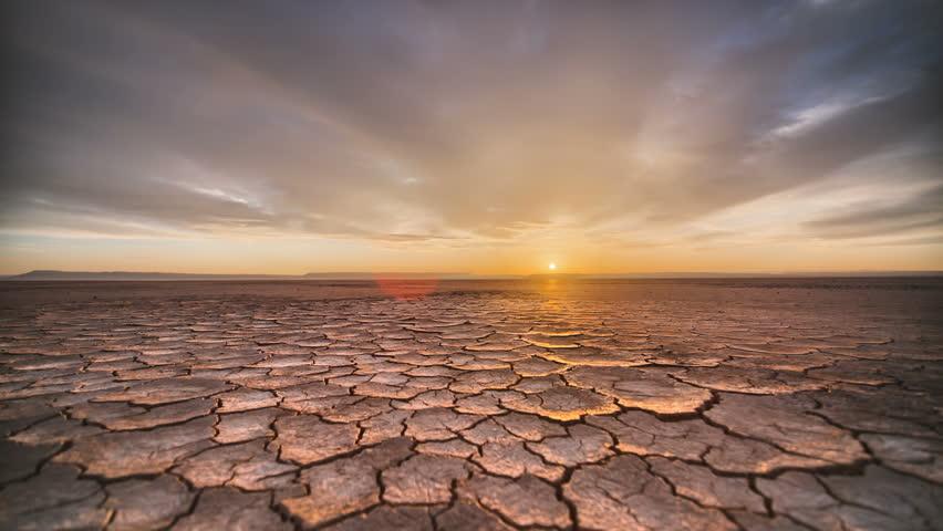 Tracking Time Lapse Desert Playa Dawn in vivid HDR Sunrise