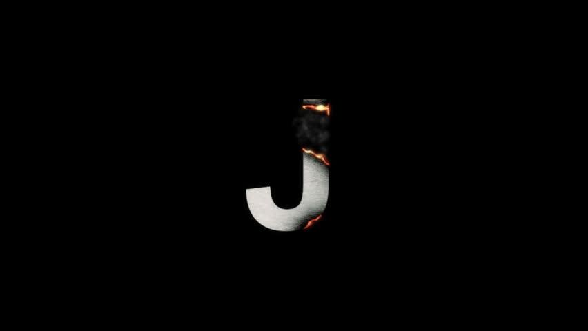 Letter J On Fire Stock Footage Video 1034791   Shutterstock