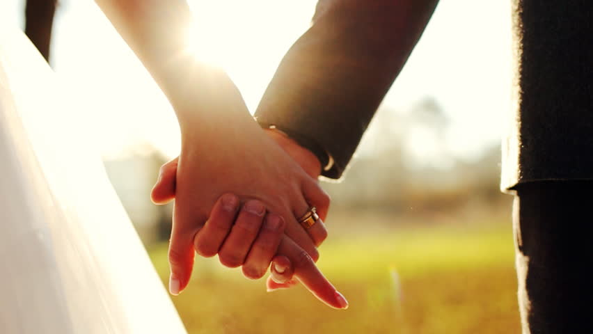 Image result for holding hands wedding day