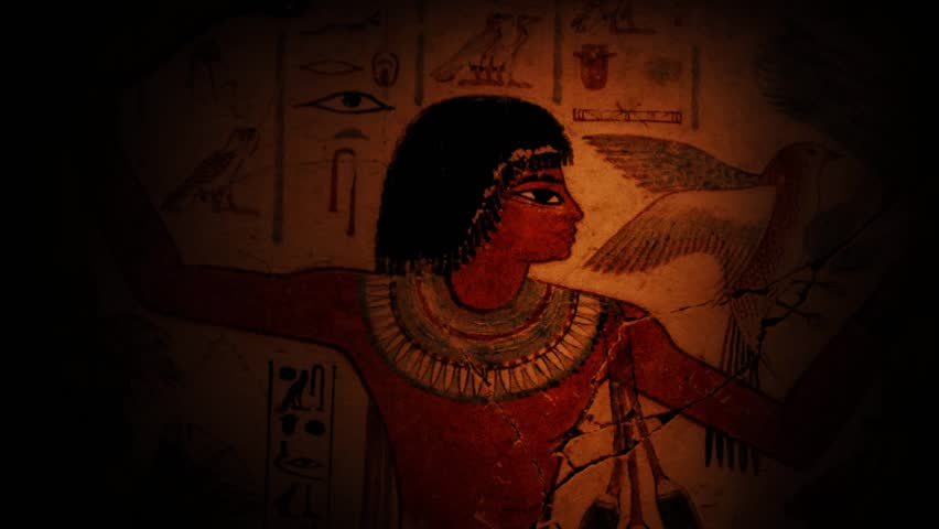 Pan Across Ancient Egyptian Wall Paintings