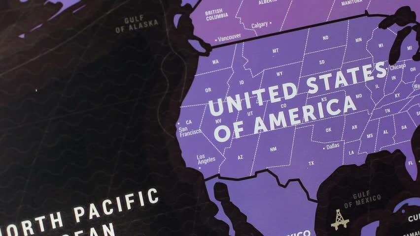 USA On World Map 19   Shutterstock HD Video #15101029