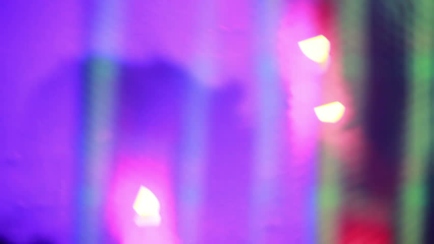Abstract Night Club Background Silhouettes Stock Footage Video