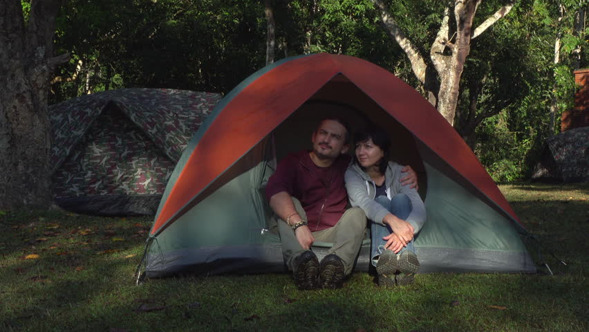 two people sitting in the morning in tent in jungle. Khao Yai National Park.  sc 1 st  Shutterstock & Two People Sitting In The Morning In Tent In Jungle. Khao Yai ...