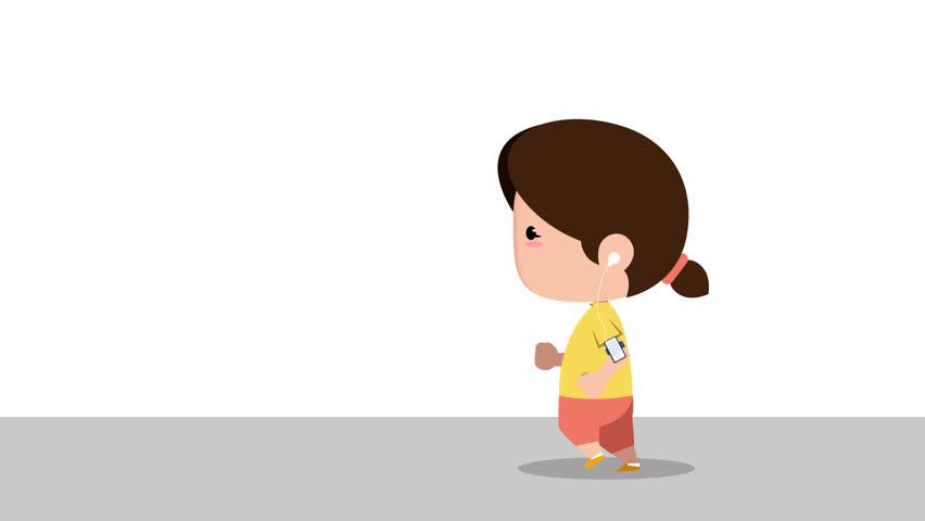 Cartoon Characters Exercising : Funny cartoon animation little boy kid lifting weight man