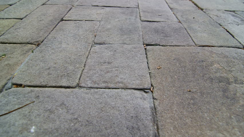Patio Garden Driveway Natural Stone Paving Slab Surface Background   HD  Stock Footage Clip