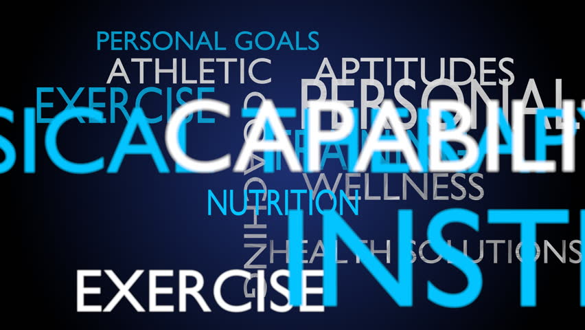 Personal training & instructions word cloud - blue variant, loop able, 4k UHD | Shutterstock HD Video #15173668