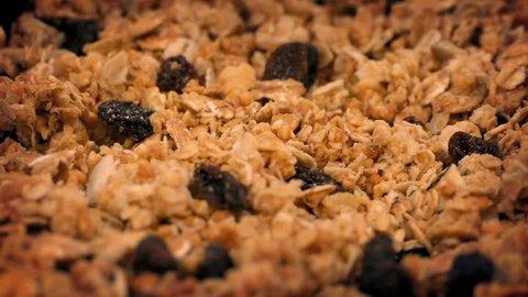 Granola Cereal, Nuts And Raisins Rotating