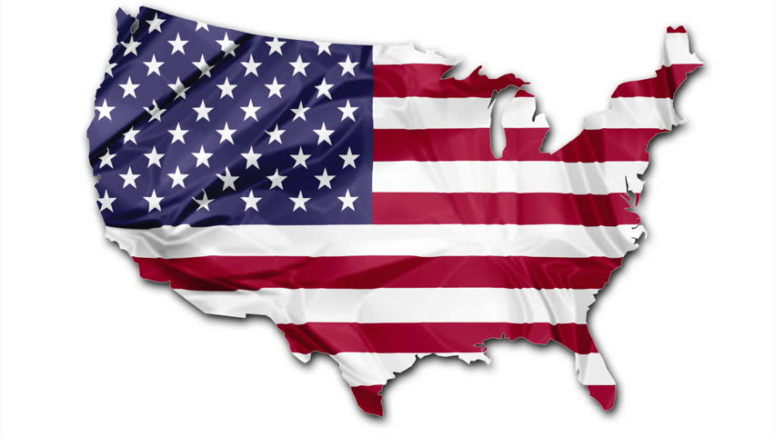 Nice Animation Of The National USA Flag In D Map Of United States - 4k image of us map