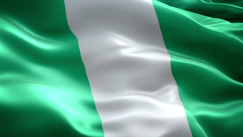 nigeria national flag. (new surge effect) stock footage video