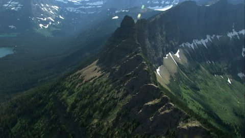 aerial shot of mountain side
