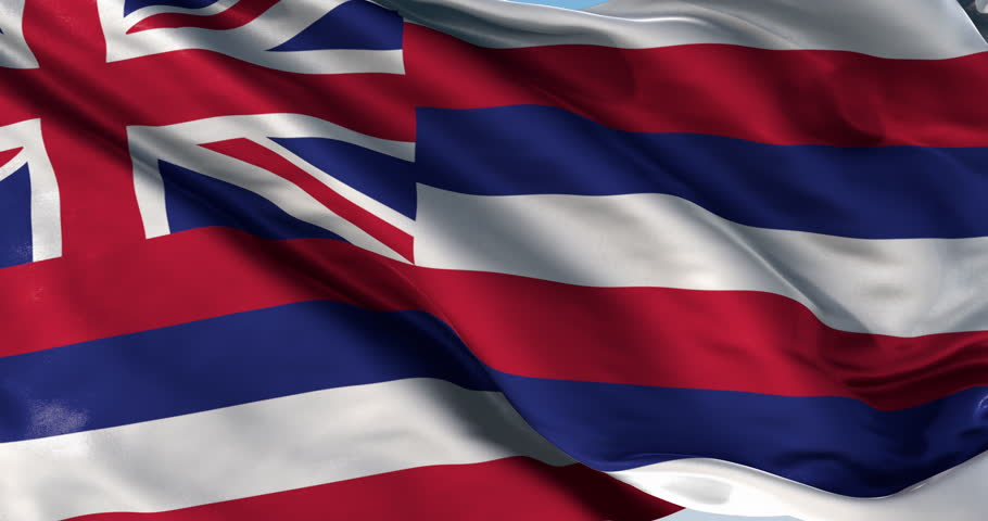 Hawaiian Flag Waving
