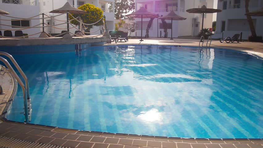 Clean Warm Swimming Pool in Stock Footage Video (100% Royalty ...