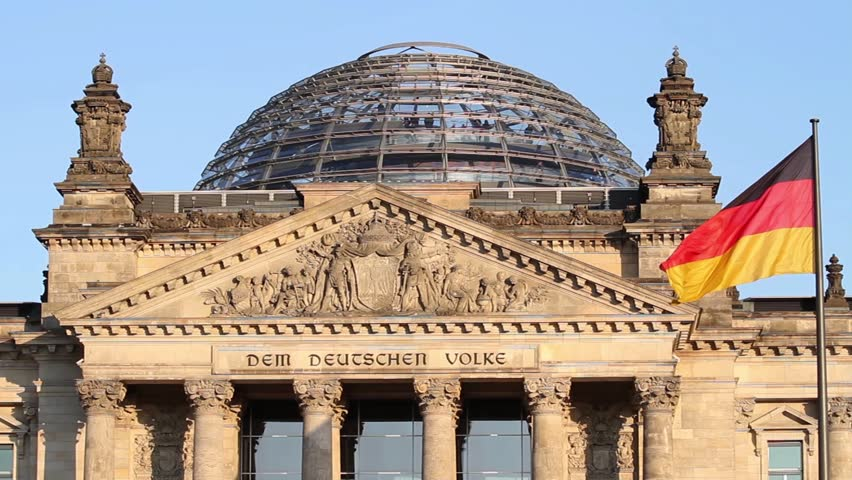 The historic Reichstag in Berlin with it's modern dome in  October 25, 2011, Berlin, Germany
