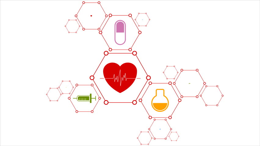 Medical Abstract Background With Health Icons. Video