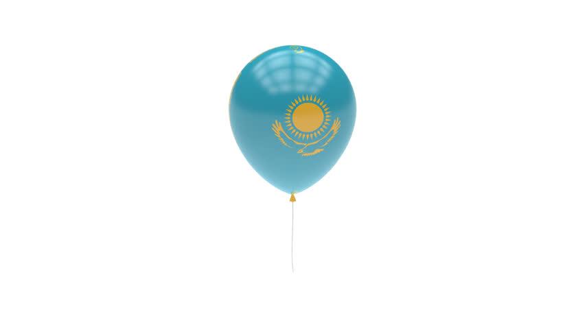 Kazakhstan Balloon Rotating Flag Animation - Alpha Channel - Transparent | Shutterstock HD Video #15347788