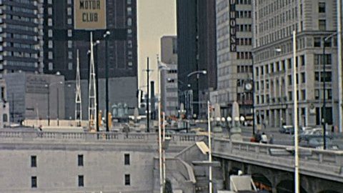 CHICAGO - AUGUST 1965: traffic on the waterfront