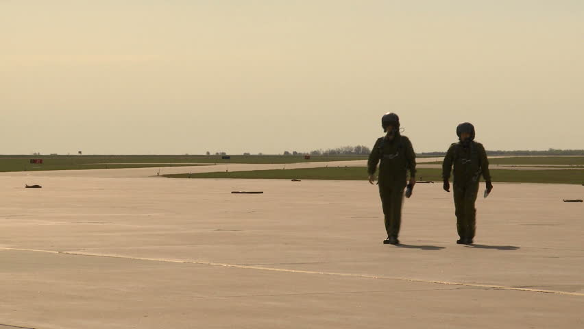 pilots walking