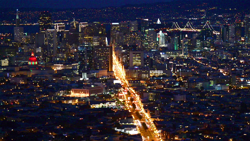 View of downtown San Francisco at night | Shutterstock HD Video #15389788