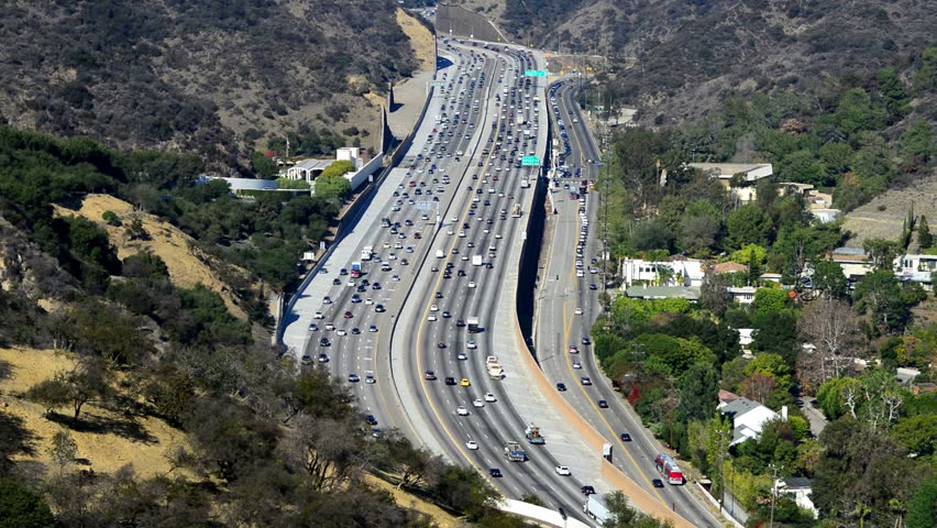 Los Angeles with busy freeway | Shutterstock HD Video #15424918